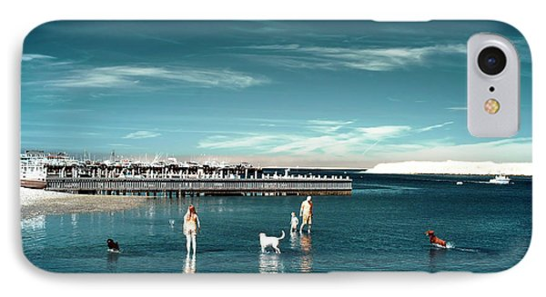 Dogs In The Bay IPhone Case by John Rizzuto