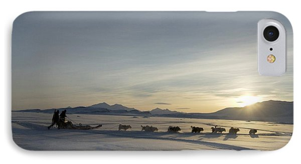 Dogsledge, Northern Greenland Phone Case by Louise Murray