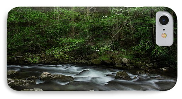IPhone Case featuring the photograph Dogwood Along The River by Mike Eingle