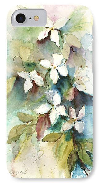 IPhone Case featuring the painting Dogwood Branch by Sandra Strohschein