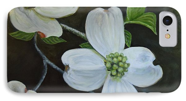 IPhone Case featuring the painting Dogwood Dream by Sandra Nardone