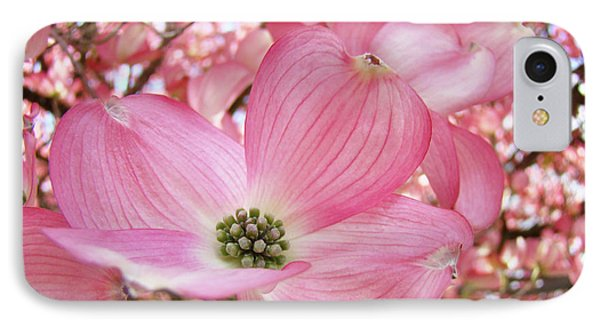 Dogwood Tree 1 Pink Dogwood Flowers Artwork Art Prints Canvas Framed Cards Phone Case by Baslee Troutman