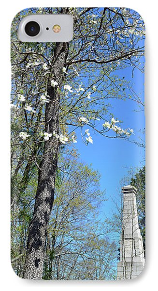 Dogwoods On Crest Of Kings Mountain National Military Park IPhone Case by Bruce Gourley