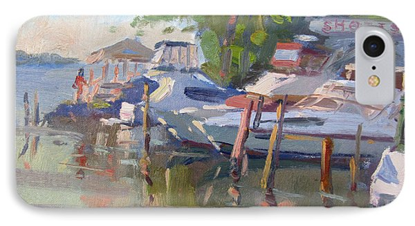 Shore iPhone 7 Case - Docks At The Shores  by Ylli Haruni