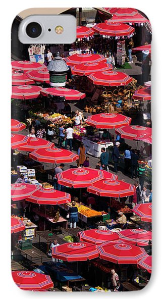 Dolac Market Umbrellas Phone Case by Rae Tucker