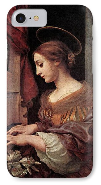 Dolci Carlo St Cecilia At The Organ IPhone Case by Carlo Dolci