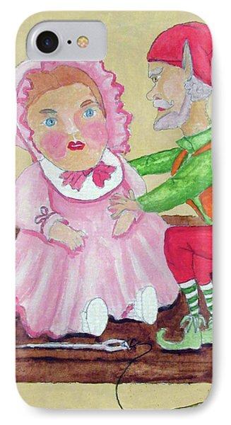 Doll Maker Elf IPhone Case by Gordon Wendling