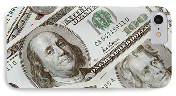 Dollars And Cents Currency Us IPhone Case by Panoramic Images