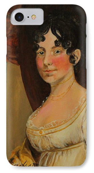 Dolley Madison IPhone Case by Jan Mecklenburg