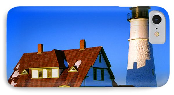 IPhone Case featuring the photograph Dollhouse Portland Head Light by Olivier Le Queinec