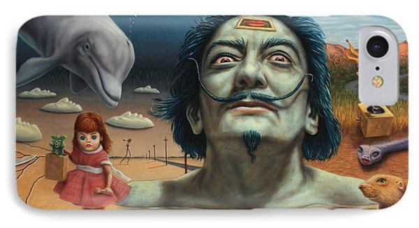 Dolly In Dali-land IPhone Case by James W Johnson