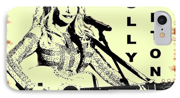 Dolly Parton Graffiti Poster IPhone Case by Dan Sproul