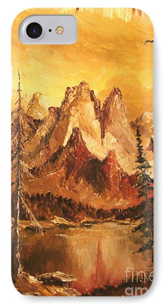 IPhone Case featuring the painting Dolomiti by Sorin Apostolescu