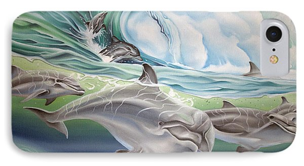 Dolphin 2 IPhone Case by William Love