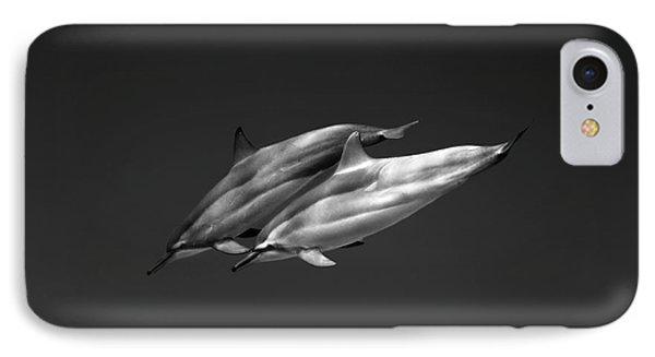 Dolphin Pair Phone Case by Sean Davey