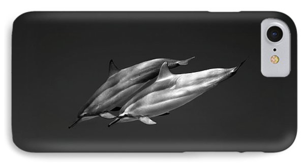 Dolphin Pair IPhone Case by Sean Davey