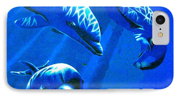 Dolphin Playing  IPhone Case by Merton Allen
