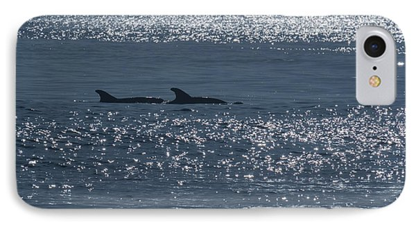 Dolphins And Reflections IPhone Case by Allan Levin