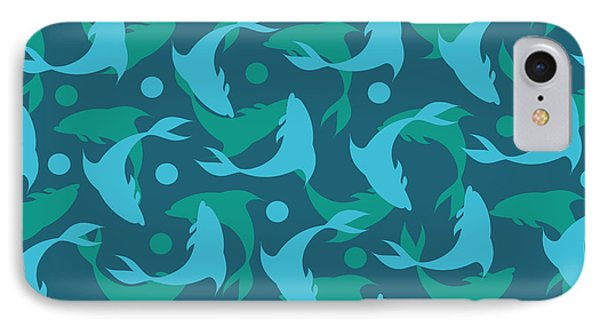 Dolphins In Blue  IPhone Case