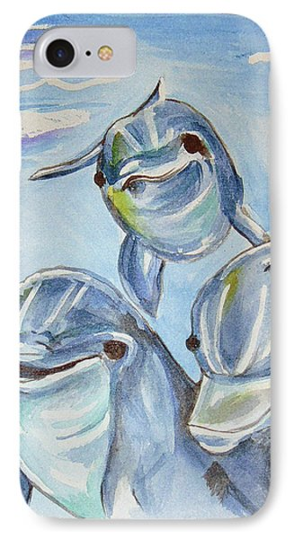 Dolphins Phone Case by Loretta Nash