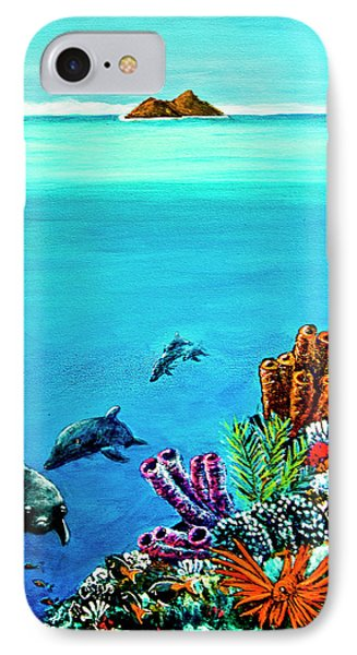 Dolphins Moorish Idle Lion Fish #253 Phone Case by Donald k Hall