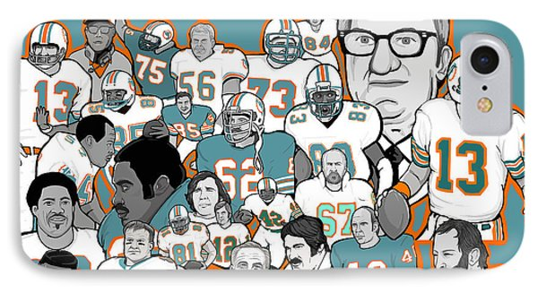 Dolphins Ring Of Honor IPhone Case by Gary Niles