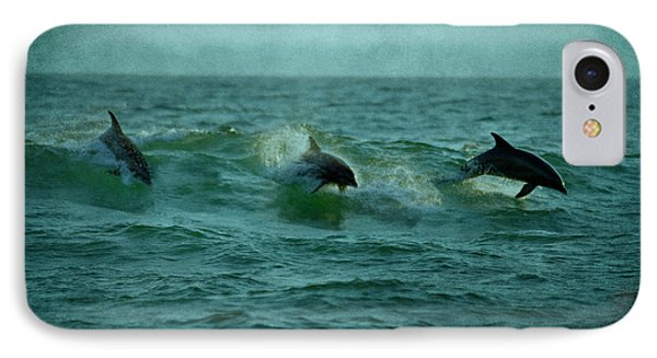 Dolphins IPhone Case by Sandy Keeton