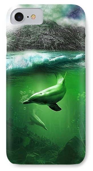 Dolphins IPhone Case by Svetlana Sewell