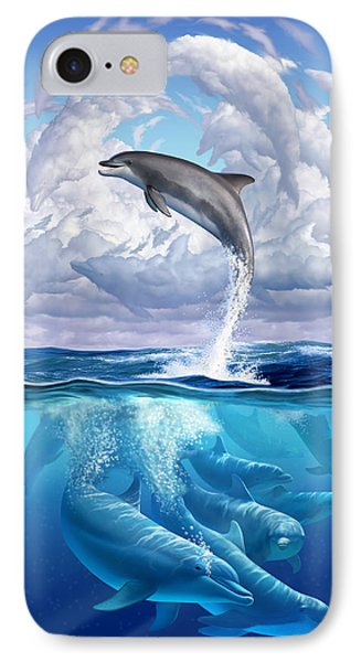Beach iPhone 7 Case - Dolphonic Symphony by Jerry LoFaro