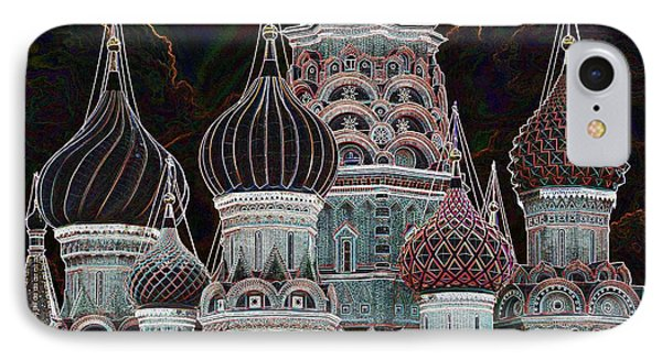 Domes Of St. Basil Cw Phone Case by Steven Liveoak
