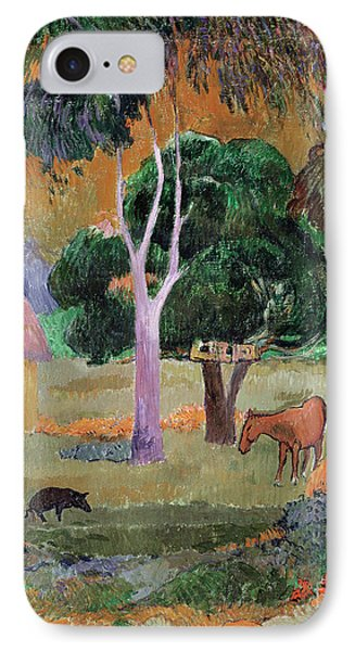 Dominican Landscape IPhone Case by Paul Gauguin