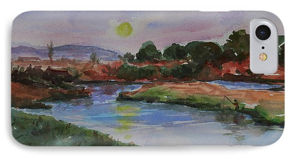 IPhone Case featuring the painting Don Edwards San Francisco Bay National Wildlife Refuge Landscape 1 by Xueling Zou