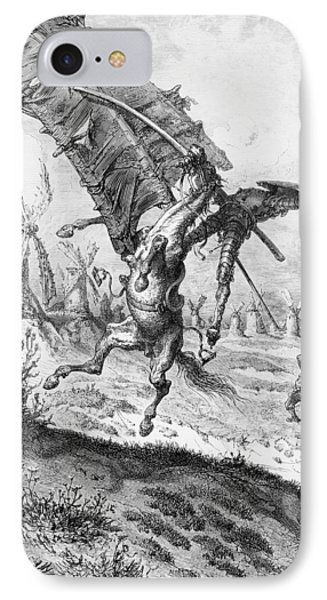 Don Quixote And The Windmills IPhone Case