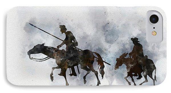 Don Quixote IPhone Case by Rebecca Jenkins