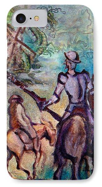 Don Quixote With Dragon IPhone Case