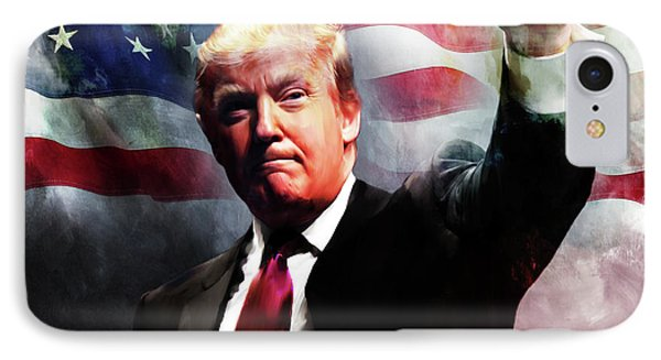 Donald Trump 01 IPhone Case by Gull G
