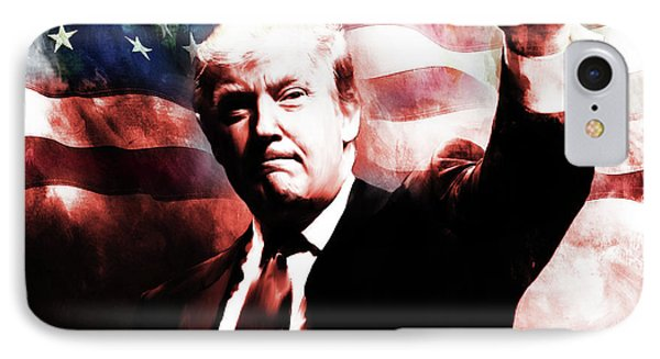 Donald Trump 01a IPhone Case by Gull G