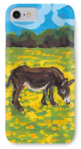 Donkey And Buttercup Field IPhone Case by Sarah Gillard