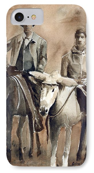 Donkey Ride Phone Case by Arline Wagner