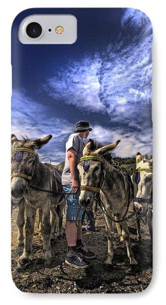 Donkey Rides Phone Case by Meirion Matthias