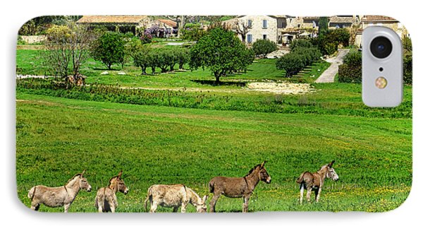 IPhone Case featuring the photograph Donkeys In Provence by Olivier Le Queinec