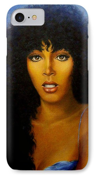 IPhone Case featuring the painting Donna Summers by Loxi Sibley