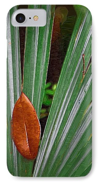 IPhone Case featuring the photograph Don't Leaf by Donna Bentley