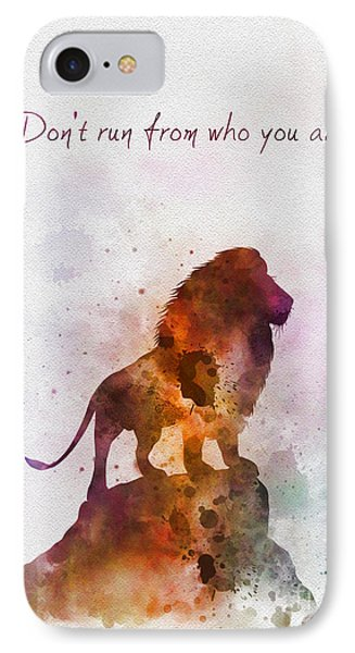 Don't Run From Who You Are IPhone Case