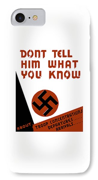 Don't Tell Him What You Know IPhone Case