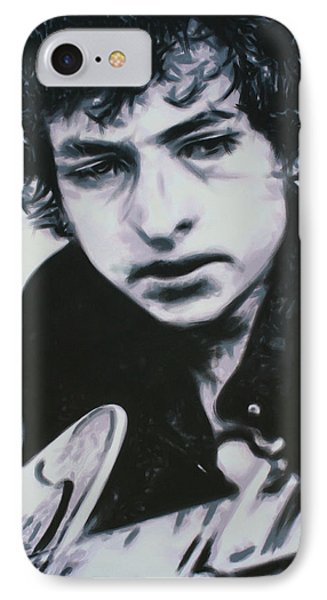 IPhone Case featuring the painting Dont Think Twice, Its Alright by Luis Ludzska