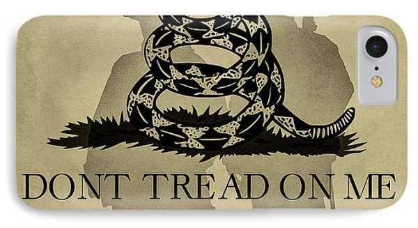 Don't Tread On Me   Rattlesnake Flag IPhone Case by Randy Steele