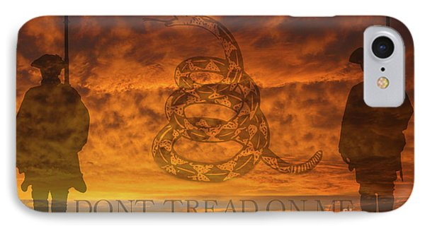 Don't Tread On Me Sunset IPhone Case by Randy Steele