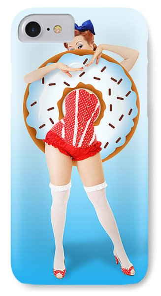 Donuts Woman IPhone Case by Mark Ashkenazi