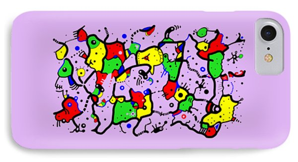 Doodle Abstract IPhone Case by Marv Vandehey